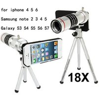 Wholesale Optical Zoom Galaxy S3 - Wholesale-mobile phone 18x Zoom optical Telescope telephoto Lens For iphone 5 5c 6 6S plus Samsung note 2 3 4 5 Galaxy S3 S4 S5 S6 S7 edge