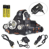 Wholesale New Hot 3x - 2016 Hot New Fashion Brand Top quality 9000Lm 3x XM-L2 LED Rechargeable Headlamp HeadLight Torch USB Lamp+18650+Charger