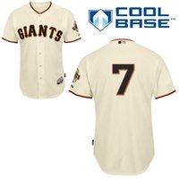 Wholesale Giant Blanco Jersey - San Francisco Giants #7 Gregor Blanco Cream Cool Base Baseball Jerseys,Wholesale Personalized  Customized Jerseys ,Wholesale