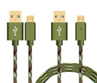 Wholesale G5 Smartphone - Camouflage Nylon Braided speed Micro USB Cable USB Type-C Date Sync Charge Cable for samsung S7 edge LG g5 smartphone mobile