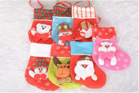 Wholesale Nylon Socks For Children - Party Decoration Christmas gifts for children christmas stockings socks decoration cute Candy Bag socks christmas Tree Ornaments decorations