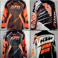 camisas de secado rápido transpirable al por mayor-Marca-KTM Camisetas de Motocross T-shirts OFF ROAD motocicleta Ciclismo Jerseys Sudadera transpirable MTB Camiseta de descenso Quick Dry