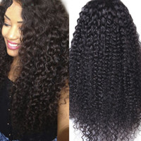 Grosso Curly Full Lace peruca de cabelo humano Unprocessed Indian Lace peruca para mulheres Africano Long Lengh Curly Lace Wigs Em estoque