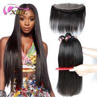 Wholesale Straight Brazilian Hair One Bundle - Body Wave And Straight Lace Frontal Closure Bundles Brazilian Indian Malaysian Peruvian Human Hair Bundles 4 Pieces One Set
