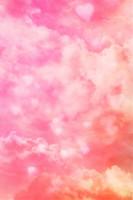 fotos rosa do bebê venda por atacado-Amor romântico coração nuvem fotografia pano de fundo rosa abstrata foto estúdio fundo dia dos namorados bebê recém-nascido tiro foto papel de parede