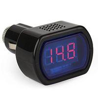 led jauge de volt achat en gros de-Mètre de voltmètre de voltmètre de système de véhicule de voiture de la mini LED 12V / 24V de Digital