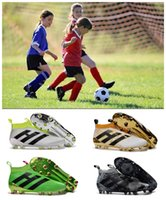 Wholesale Cheapest Kids Winter Shoes - ACE 16+ Purecontrol Soccer Cleats FG Football Boots Shoes Pure Control Cheap Soccer Shoes Men Kids Women 100% Original Quality Soccer Shoes