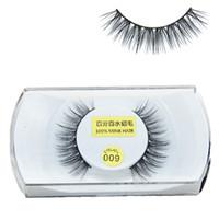 göz saçı bandı toptan satış-Toptan Satış - Toptan-Doğal Vizon Saç Yanlış Eyelashes 1 çift Çapraz Kirpik Yüksek Kalite Sahte Göz Lashes Band Makyaj Araçları