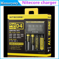 Wholesale Nitecore Sysmax - Original Nitecore D4 Universal Charger SYSMAX Version 2.0 CR123A 16340 18650 18500 14500 26650 Li-ion NiMH Battery 4 in 1 Intellicharger