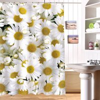 Wholesale x180cm shower curtain waterproof curtians D Daisy digital printing shower curtain bathroom curtain