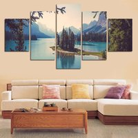 Wholesale 5 Panels Painting Canvas Wall Art Cuadros Decorativos Wall Picture For Living Room Canvas Print Landscape Painting Canvas Art