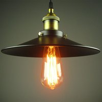 Wholesale Black Vintage Metal Lamp - Minimalistic Edison Chandelier Industrial Lamps Vintage Chandelier Lampe Design Lamparas De Techo Colgante Pendant Light Metal Lamp Loft