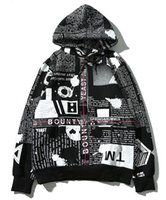 Wholesale M Shade - fer of god High quality cotton The newspaper English shading ribbon hooded men and women the same paragraph hoodies Free delivery