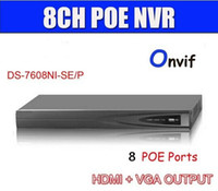 Wholesale Hikvision Nvr - Hikvision DS-7608NI-SE P 8 Independent PoE network interfaces 1U case HDMI NVR