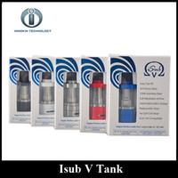 innokin ohm coil toptan satış-Otantik Innokin Isub V TC Tank Top Dolum 3.0 ml Sub Ohm Atomizer ile Clapton Bobin Yüklü 5 Renkler