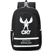 Wholesale Cool Canvas Backpacks - Fly Cristiano Ronaldo backpack CR7 Football Club school bag Footballer soccer star rucksack Cool day pack Best daypack