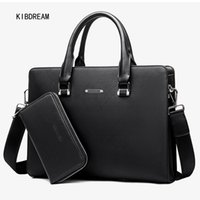 Wholesale Cheaper Handbags Chain - Wholesale- Cheaper PVC Briefcases Men Bag Crossbody and Tote Handbags New Business Casual Wear Shoulder Bag Free Shipping
