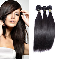 Wholesale Medium Top Hair Piece - Top Quality facotory supplier Brazilian Hair 3 bundle of Silky Straight Weave Human Hair Extensions only one set is wholesale price