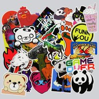 Wholesale 50 Funny Sticker Fridge Car Styling Doodle DIY Stickers For Laptop Skateboard Luggage Waterpoof Creative Decals