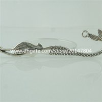 Wholesale Mermaid Silver Bookmarks - 15045 5PCS Alloy Antique Silver Vintage Fairytale Mermaid Bookmarks Charm