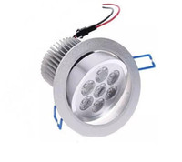 luz de techo de baño rasante al por mayor-7x1W LED Foco de techo Lampe Flush Mount 7W Dimmable 110V 220V para baño Supermercado Indoor Lampada Decoration Warm blanco CE FCC LLF