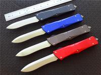 Wholesale customs knives resale online - Cncostco Custom Combat D A auto Recurve Knife T6 Aluminum handle Satin CNC D2 steel Plain EDC Survival gear knives A07 A161