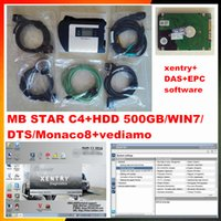 Nouvelle version OBD2 scanner MB STAR C4 + v2017 09 WIN7 DTS Monaco8 + vediamo + xentry + DAS + EPC logiciel HDD 500 GB outil de diagnostic de voiture