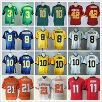 Wholesale Youth Pats Jersey - Men Youth Norte Dame Fighting Irish 3 Joe Montana 11 Jake Fromm Oklahoma State Barry Sanders 21 Pat Tillman Baylor College football jerseys