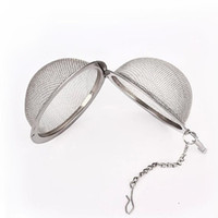 Wholesale fast casting - New Stainless Steel Sphere Hot Stainless Steel Tea Pot Infuser Sphere Mesh Tea Strainer Ball Fast Shipping