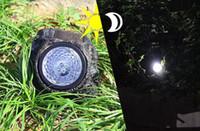 Wholesale Decorative Lighting Yards - 2017 NEW Outdoor Garden 4-LED Solar Decorative Rock Stone Spot Lights Lamp Yard free shipping MYY