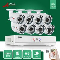 Wholesale Ir Leds Night - Plug and Play ANRAN 8CH 1080N HDMI DVR 1800TVL 720P 36IR LEDs Indoo Outdoor IR-CUT Day Night Waterproof Home Security Camera System