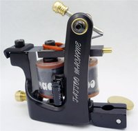 Wholesale Tattoo Machine Frames Supply - Wholesale- New Arrival Clip Cord And Coil Tattoo Machine 10 Warp Coil Tattoo Frame Gun for Liner Shader Supply Free Shipping TM-7208