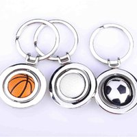 Wholesale antique rings online - Practical Key Ring Easy To Carry Electroplated Keys Buckle Metal Basketball Football Golf Souvenir Anti Wear co ff
