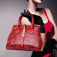 Wholesale Design Shoulder Pu - New fashion Women design national wind bag ladies bag hand shoulder diagonal handbags Chinese style embossed