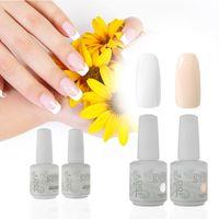 Wholesale harmony gelish nails online - French Nail IDO Gelish BT Soak Off Harmony Colours Long Lasting Cosmetic Gel Nail Polish False Nail Guides