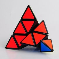 Wholesale Pyramid Stickers - New Transparent Intelligence Pyramid Cube Sticker Irregular Cubo Magico Nen Fidget Cube New Year Toys For Adults Puzzle 60B0448