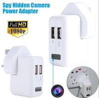 Wholesale Spy Socket Plug - 1080P HD power US UE AU Adapter spy hidden camera plug socket camera Covert surveillance Spy Cams without camera hole listening device