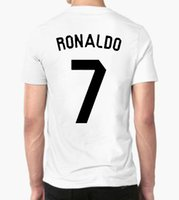 Wholesale-real madrid 2017 2018 Moda uomo T shirt ronaldo balla messi t shirt uomo movimento CR7 TEE qualità-4XL KANYPS