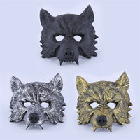 Venda Por Atacado Creepy Rubber Mask Masquerade Halloween Chrismas Festa de Páscoa Cosplay Costume Theatre Prop Grey Werewolf Wolf Face Mask IB383