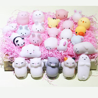 Wholesale Wholesale Retail Charms - Latest Toy Craze Squishy Soft Toy Lovely Cartoon Lovely Cartoon Cat Animals Squeeze Stress Relieve Squishy Toys For kids With Retail Package