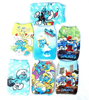 Wholesale Cartoons Smurfs - 20pcs Cartoon lovely beautiful the smurfs New Design Toy Cell Phone Holder Pouches Socks Gift