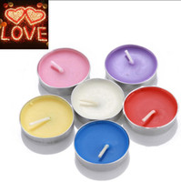 Wholesale Pillar Sets - Smokeless Scented Candle Tea Light Wax Night Light Dripless Smooth Burning Candles 50pcs Set 7 Colors OOA3563