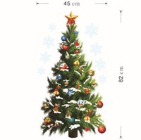 Wholesale Wholesale Custom Decals - ZYXmas wall of setting of the new foreign trade Christmas decoration Christmas trees waterproof wall stickers custom murals in the New Year