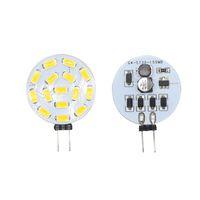 12v marine birnen warmweiß großhandel-G4 LED 5730 SMD 15 LEDs 180 Grad Weiß / warmweiß Auto Marine Camper RV Licht Lampe AC / DC 12V