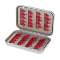 Wholesale 40pcs box Red Colorful Fly Hooks High Carbon Steel Barbed Hooks Fishing Hooks Fishhooks Pesca Carp Fishing Tackle Accessories