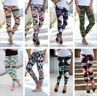 Wholesale Elastic Ankle Length Trousers Legging - Women Print Leggings Stretchy Casual Skinny Legging Slim Pencil Pants Fashion Trousers Leisure Elastic Geometric Leggings Jeggings B745 10