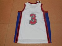 """Wholesale Mike Knight - Free Shipping New Men's Stitched The Movie """" Like Mike Knights """" Basketball Jerseys WHITE #3 Cambridge Jersey"""