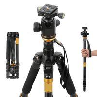 Wholesale Digital Camera Slr - Wholesale-EACHSHOT Q999 Q-999 Photographic Portable Tripod To Monopod+Ball Head For Digital SLR DSLR Camera Fold 43cm Max Loading 15Kg