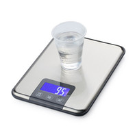 Wholesale Kitchen Scale Stainless Steel Slim - 15KG*1g Big Digital Kitchen Touch Scale 15kg 1g Slim Stainless Steel LCD Electronic Bench Scales Food Diet Weight Balances With Box