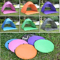 Wholesale Outdoor Tent Camping Persons - DHL Fedex Shipping Quick Automatic Opening Easy Carry Tents Outdoor Camping Shelters 2-3 People UV Protection Tent Beach Travel Lawn Outing